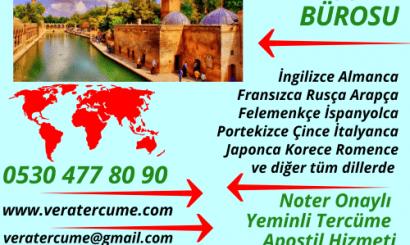 Şanlıurfa Tercüme Bürosu