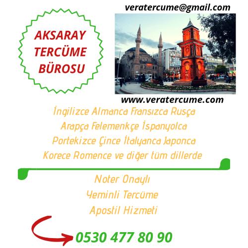 Aksaray Tercüme Bürosu