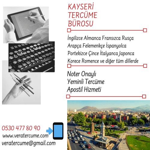 Kayseri Tercüme Bürosu