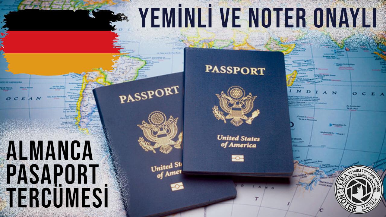 Almanca Pasaport Tercümesi