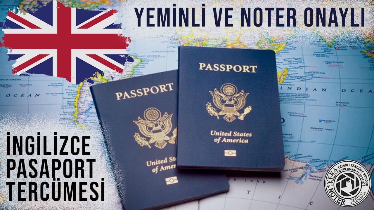 İngilizce Pasaport Tercümesi