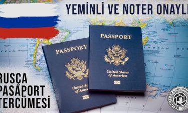 Rusça Pasaport Tercümesi