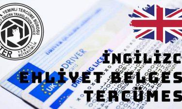 İngilizce Ehliyet Belgesi Tercümesi